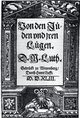 Plakat: Ertragen können wir sie nicht - Martin Luther und die Juden