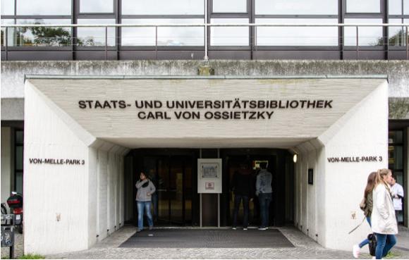 Bild: Staats- und Universitätsbibliothek Carl von Ossietzky - Eingang