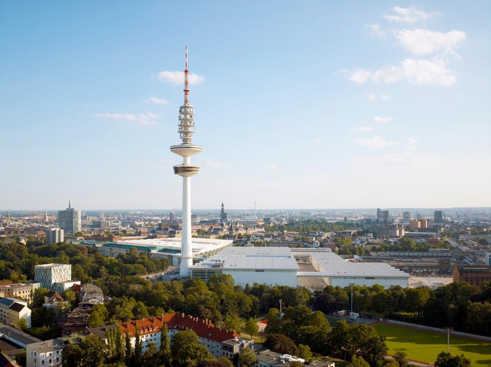 Bild: Hamburg Messe und Congress - Luftaufnahme