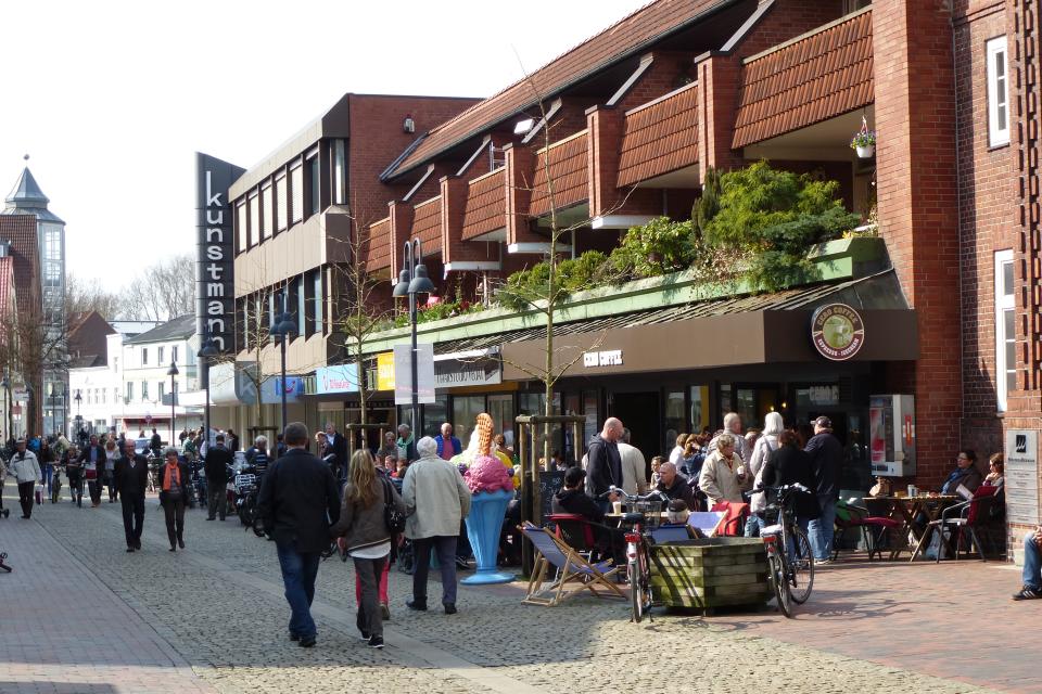 Bild: Die Innennstadt von Pinneberg