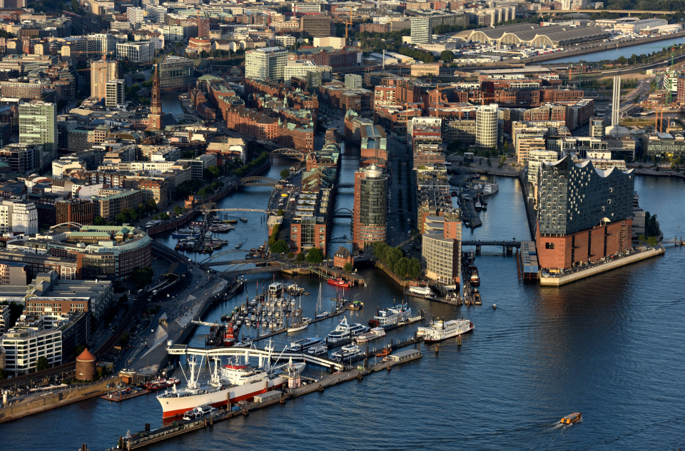 Bild: Elbphilharmonie - Luftaufnahme