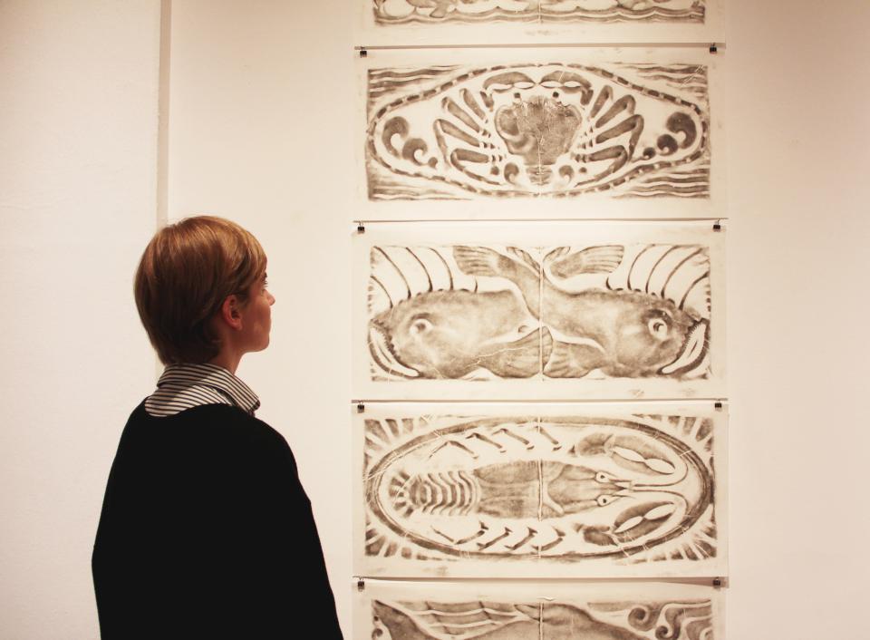 Bild: Ausstellungsansicht - Inky Bites. Tuschespuren im Digitalzeitalter