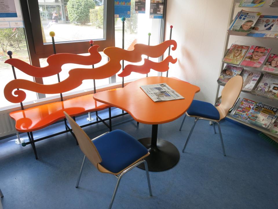 Bild: Die Zeitschriftenecke in der Bücherhalle Mümmelmannsberg