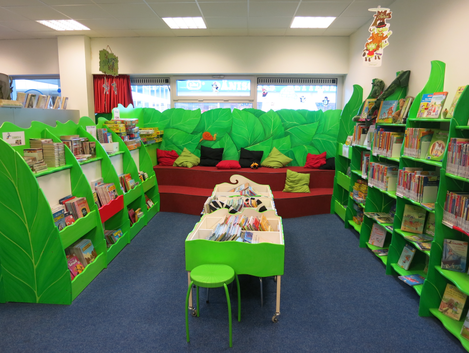 Bild: Der Kinderbereich in der Bücherhalle Osdorfer Born