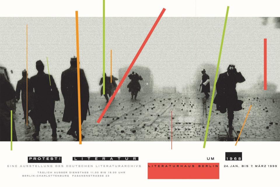 Bild: Günter Karl Bose (*1951), Protestliteratur 1968, Literaturhaus Berlin, 1999, DIN A1