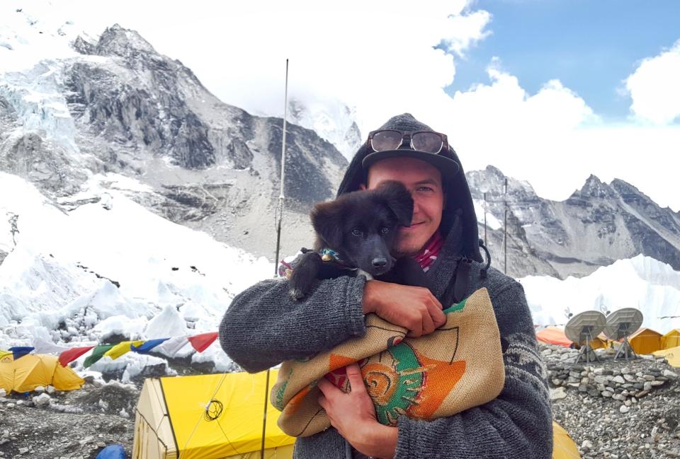 Bild: Phil und Tiksa im Himalaya