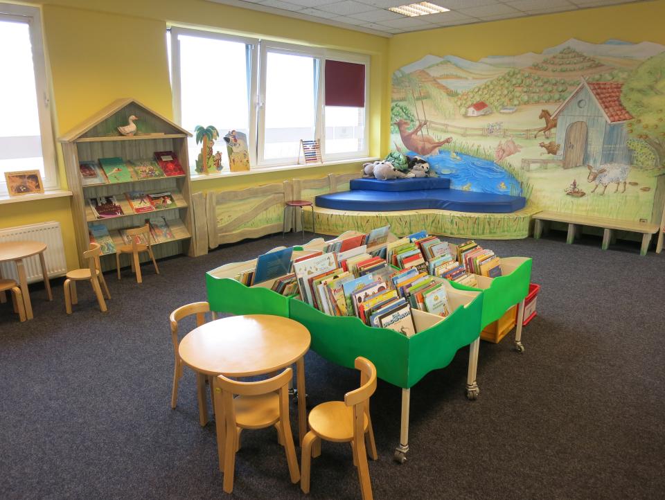Bild: Der Kinderbereich in der Bücherhalle Eidelstedt