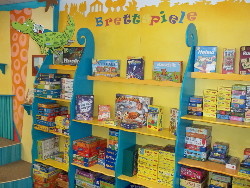 Bild: Die Spieleecke in der Bücherhalle Elbvororte