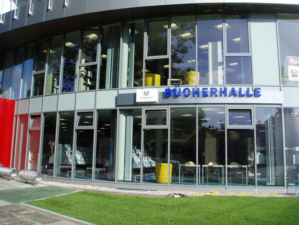 Bild: Die Bücherhalle Rahlstedt