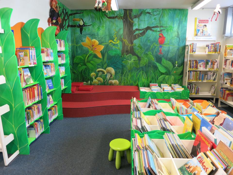 Bild: Der Kinderbereich in der Bücherhalle Fuhlsbüttel