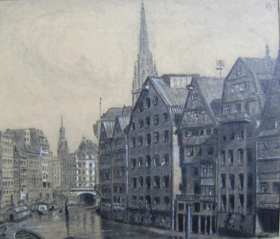 Bild: Deichstraße in Hamburg historisch