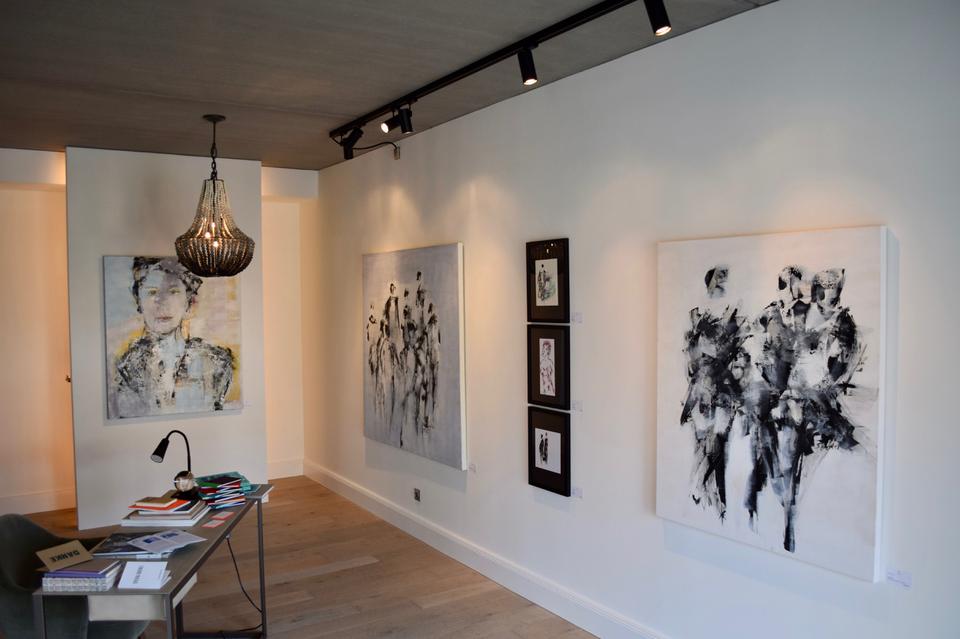 Bild: Sylvia Goebel in der Galerie Alex F.