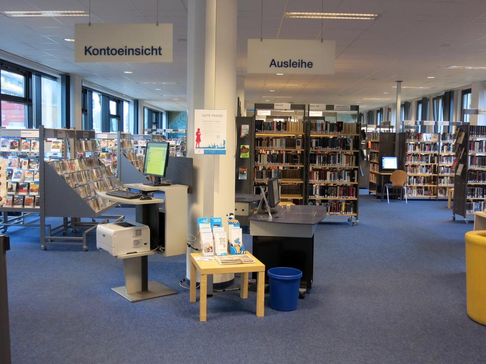Bild: Die Bücherhalle Wandsbek