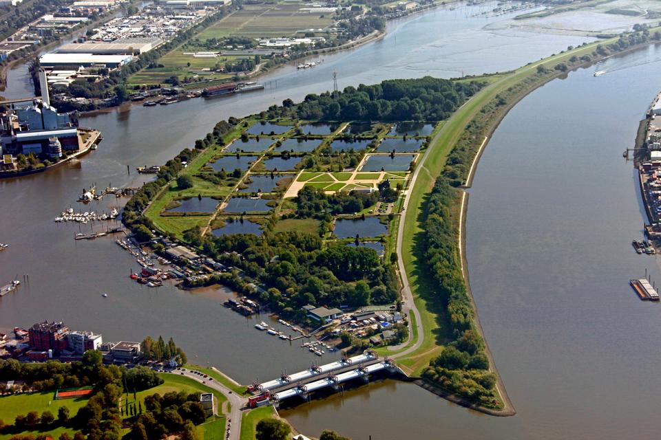 Bild: Luftbild Elbinsel Kaltehofe