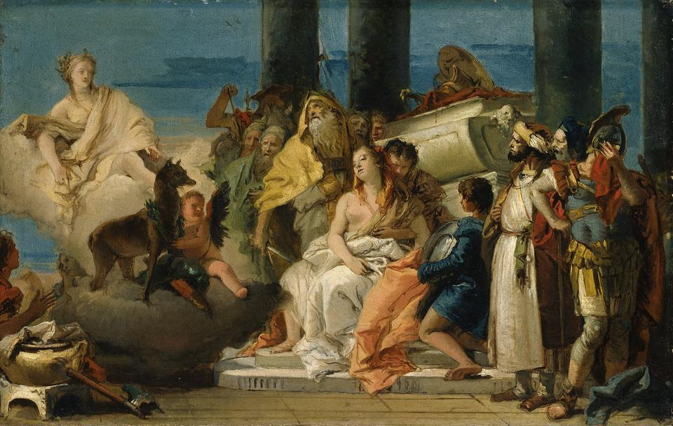 Bild: Tiepolo Die Opferung der Iphigenie
