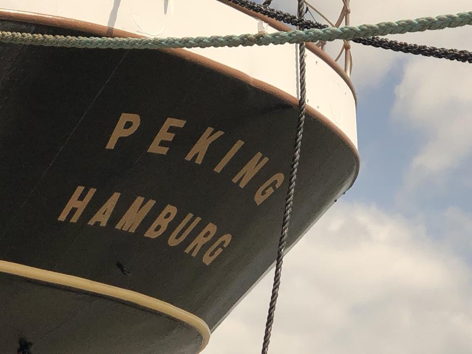 Bild: Die PEKING. Een Hamborger Veermaster kommt nach Hamburg