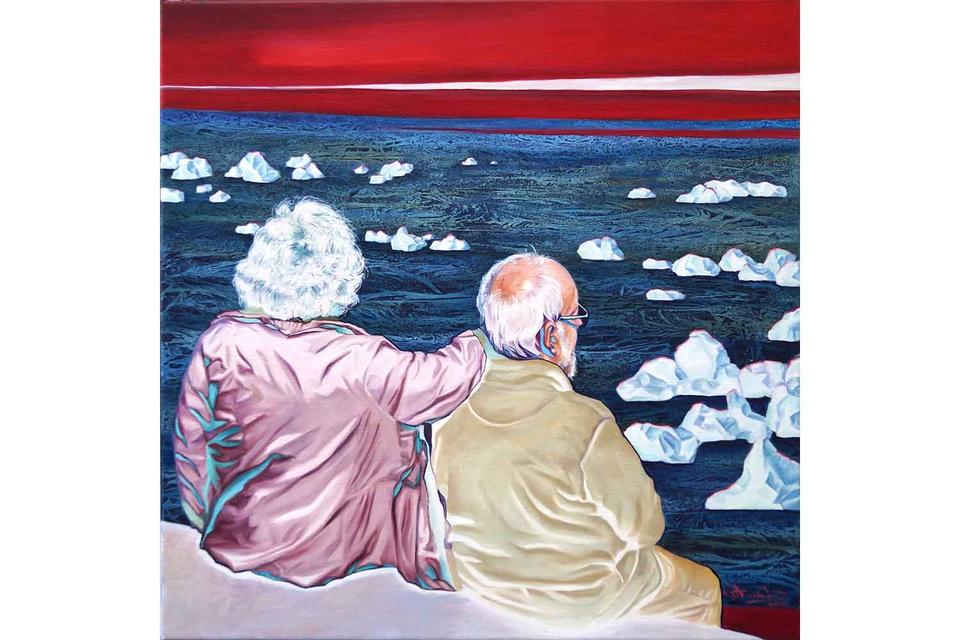 Bild: Paar auf der Mauer
