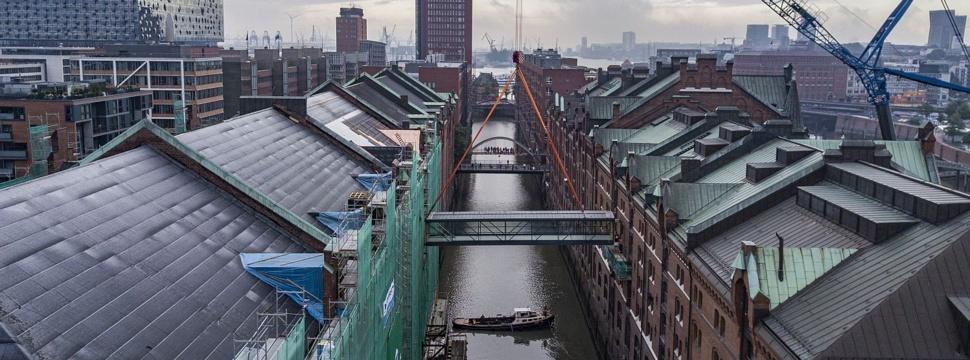 Neue Fleetbrücke in der Speicherstadt verbindet Miniatur Wunderland-Welten, © HHLA/Fotograf