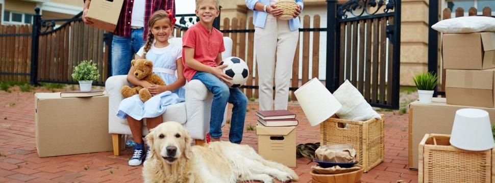 Umzug mit Familie & Hund, © iStock.com/shironosov