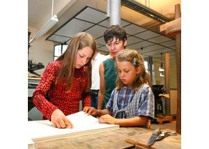Buchbinden, Offene Werkstatt, Museum der Arbeit
