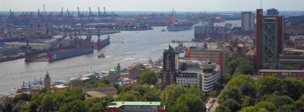 Luftbild: Panoramablick vom Michel, © hamburg-magazin.de