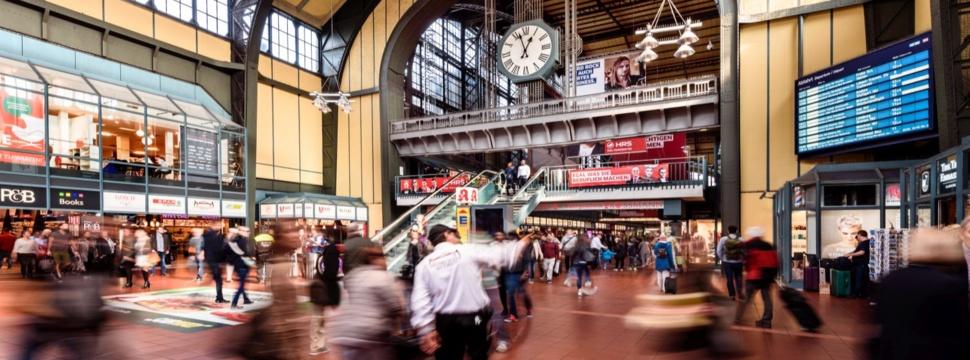 Wandelhalle im Hamburger Hauptbahnhof, Pressefoto
