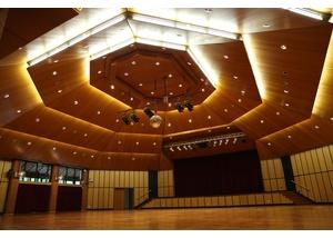 Der Saal bietet viel Platz für Konzerte.