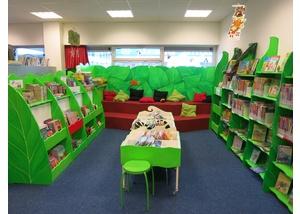 Der Kinderbereich in der Bücherhalle Osdorfer Born