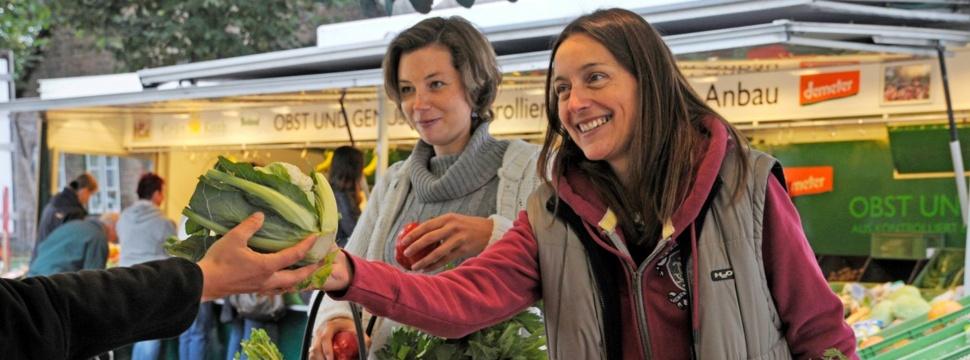 Bio-Wochenmarkt und Regionales, © Birte Faika