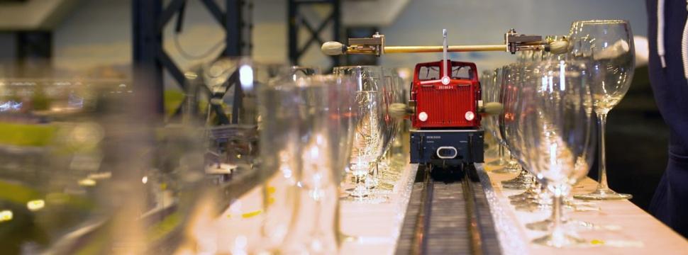 Miniatur Wunderland Zug auf Weltrekord-Fahrt, © Miniatur Wunderland