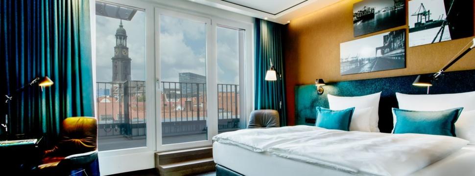 Ausblick vom Motel One Hamburg-Fleetinsel, © Motel One