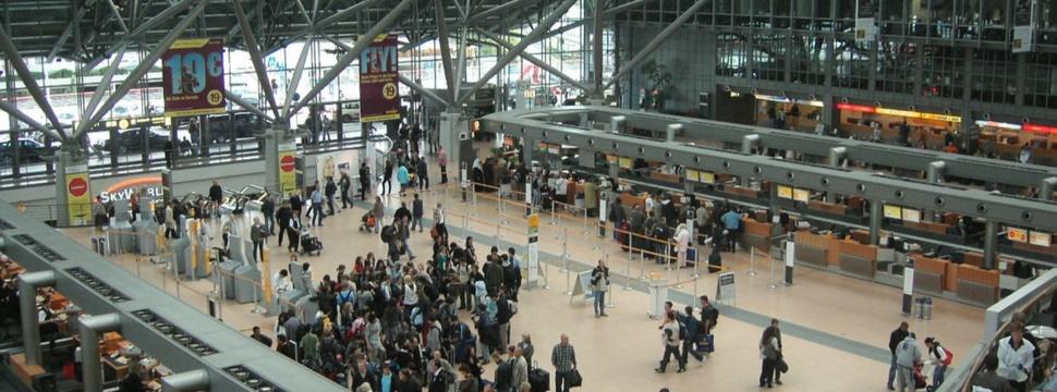 Terminal im Hamburger Flughafen, © hamburg-magazin.de