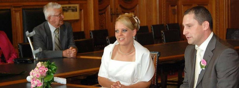 Heiraten im HaHeiraten im Ratshaus, © Pressestelle des Senats/Julian Boymburger Rathaus