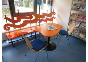 Die Zeitschriftenecke in der Bücherhalle Mümmelmannsberg