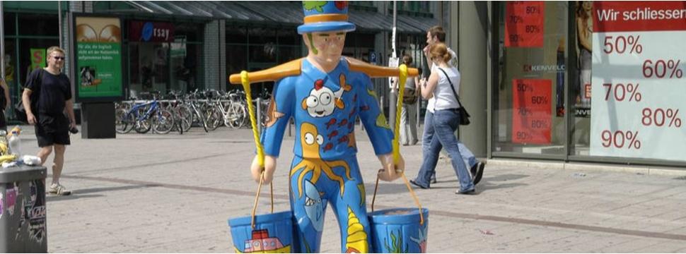 Hans Hummel Figur Mönckebergstraße 2, © hamburg-magazin.de
